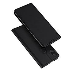 Custodia Portafoglio In Pelle Cover con Supporto per Xiaomi Redmi Note 7 Pro Nero