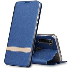 Custodia Portafoglio In Pelle Cover con Supporto per Xiaomi Redmi Note 8 Blu