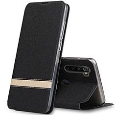 Custodia Portafoglio In Pelle Cover con Supporto per Xiaomi Redmi Note 8 Nero