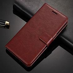 Custodia Portafoglio In Pelle Cover con Supporto per Xiaomi Redmi Note 8 Pro Marrone