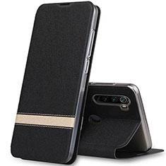 Custodia Portafoglio In Pelle Cover con Supporto per Xiaomi Redmi Note 8T Nero
