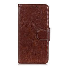 Custodia Portafoglio In Pelle Cover con Supporto per Xiaomi Redmi Note 9S Marrone
