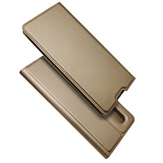 Custodia Portafoglio In Pelle Cover con Supporto S01 per Oppo Find X2 Pro Oro