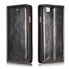 Custodia Portafoglio In Pelle Cover con Supporto T01 per Apple iPhone SE (2020) Nero