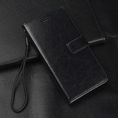 Custodia Portafoglio In Pelle Cover con Supporto T01 per Samsung Galaxy A70 Nero