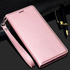 Custodia Portafoglio In Pelle Cover con Supporto T01 per Samsung Galaxy S20 Plus 5G Oro Rosa