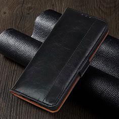 Custodia Portafoglio In Pelle Cover con Supporto T01 per Xiaomi Redmi Note 9 Pro Nero