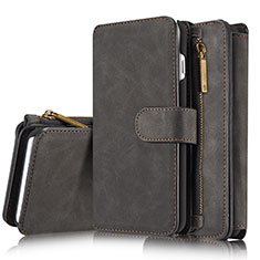 Custodia Portafoglio In Pelle Cover con Supporto T02 per Apple iPhone 8 Plus Nero