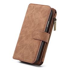 Custodia Portafoglio In Pelle Cover con Supporto T02 per Apple iPhone XR Arancione