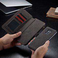 Custodia Portafoglio In Pelle Cover con Supporto T02 per Huawei Mate 20 Pro Nero