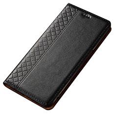 Custodia Portafoglio In Pelle Cover con Supporto T02 per Samsung Galaxy A80 Nero
