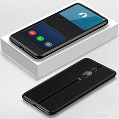 Custodia Portafoglio In Pelle Cover con Supporto T02 per Xiaomi Mi 9T Nero