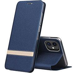 Custodia Portafoglio In Pelle Cover con Supporto T03 per Apple iPhone 11 Blu