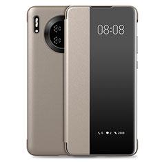 Custodia Portafoglio In Pelle Cover con Supporto T03 per Huawei Mate 30 5G Oro
