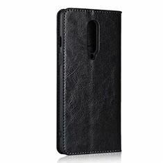 Custodia Portafoglio In Pelle Cover con Supporto T03 per OnePlus 8 Nero