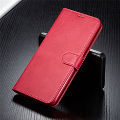 Custodia Portafoglio In Pelle Cover con Supporto T03 per Samsung Galaxy A80 Rosso