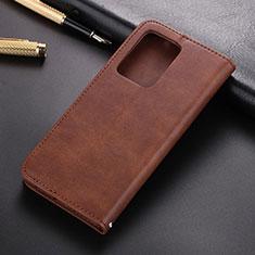 Custodia Portafoglio In Pelle Cover con Supporto T03 per Samsung Galaxy S20 Plus Marrone