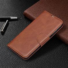 Custodia Portafoglio In Pelle Cover con Supporto T03 per Xiaomi Redmi Note 9 Marrone