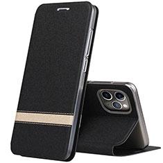 Custodia Portafoglio In Pelle Cover con Supporto T04 per Apple iPhone 11 Pro Max Nero