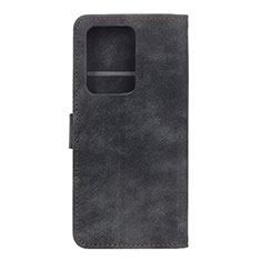 Custodia Portafoglio In Pelle Cover con Supporto T04 per Huawei P40 Pro+ Plus Nero