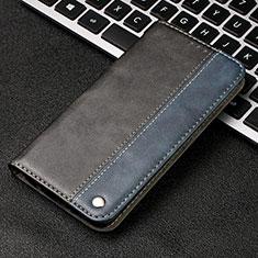 Custodia Portafoglio In Pelle Cover con Supporto T04 per Samsung Galaxy A70 Blu