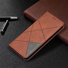 Custodia Portafoglio In Pelle Cover con Supporto T04 per Xiaomi Mi 10T Lite 5G Marrone