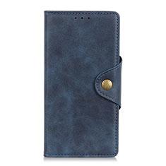 Custodia Portafoglio In Pelle Cover con Supporto T05 per Huawei Honor X10 5G Blu