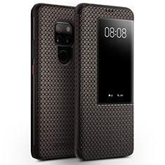 Custodia Portafoglio In Pelle Cover con Supporto T05 per Huawei Mate 20 Marrone