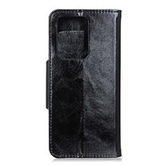 Custodia Portafoglio In Pelle Cover con Supporto T05 per Huawei P40 Pro+ Plus Nero