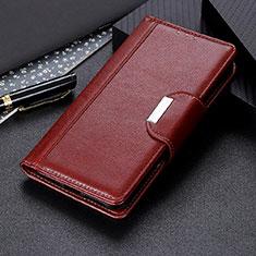 Custodia Portafoglio In Pelle Cover con Supporto T05 per OnePlus 8 Pro Marrone