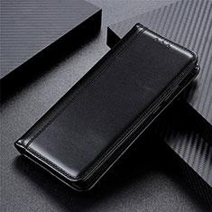 Custodia Portafoglio In Pelle Cover con Supporto T05 per Oppo Reno4 5G Nero