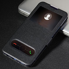 Custodia Portafoglio In Pelle Cover con Supporto T06 per Huawei Honor 20 Pro Nero
