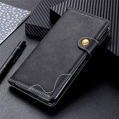 Custodia Portafoglio In Pelle Cover con Supporto T06 per Huawei P Smart (2020) Nero