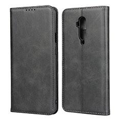 Custodia Portafoglio In Pelle Cover con Supporto T06 per OnePlus 7T Pro Nero