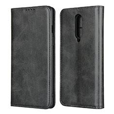 Custodia Portafoglio In Pelle Cover con Supporto T06 per OnePlus 8 Nero