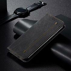Custodia Portafoglio In Pelle Cover con Supporto T06 per Xiaomi Mi 10 Pro Nero