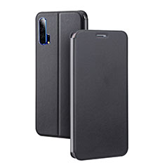 Custodia Portafoglio In Pelle Cover con Supporto T07 per Huawei Honor 20 Pro Nero