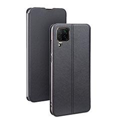 Custodia Portafoglio In Pelle Cover con Supporto T07 per Huawei P40 Lite Nero