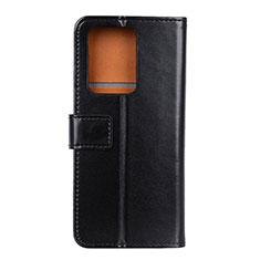 Custodia Portafoglio In Pelle Cover con Supporto T07 per Huawei P40 Pro+ Plus Nero
