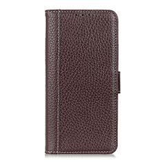 Custodia Portafoglio In Pelle Cover con Supporto T07 per OnePlus 8 Pro Marrone