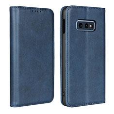 Custodia Portafoglio In Pelle Cover con Supporto T07 per Samsung Galaxy S10e Blu