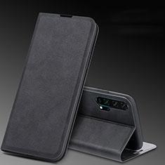 Custodia Portafoglio In Pelle Cover con Supporto T08 per Huawei Honor 20 Pro Nero