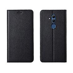 Custodia Portafoglio In Pelle Cover con Supporto T08 per Huawei Mate 20 Lite Nero