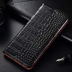 Custodia Portafoglio In Pelle Cover con Supporto T08 per OnePlus 7T Pro Nero