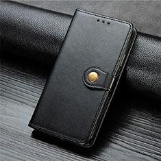 Custodia Portafoglio In Pelle Cover con Supporto T08 per Xiaomi Mi 10 Nero
