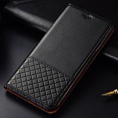 Custodia Portafoglio In Pelle Cover con Supporto T09 per Huawei P30 Nero