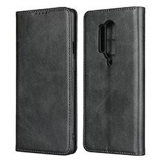 Custodia Portafoglio In Pelle Cover con Supporto T09 per OnePlus 8 Pro Nero