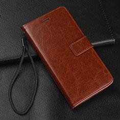 Custodia Portafoglio In Pelle Cover con Supporto T09 per Samsung Galaxy S10e Marrone