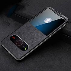 Custodia Portafoglio In Pelle Cover con Supporto T10 per Huawei Honor 20 Pro Nero