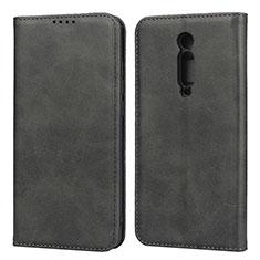 Custodia Portafoglio In Pelle Cover con Supporto T10 per Xiaomi Redmi K20 Pro Nero